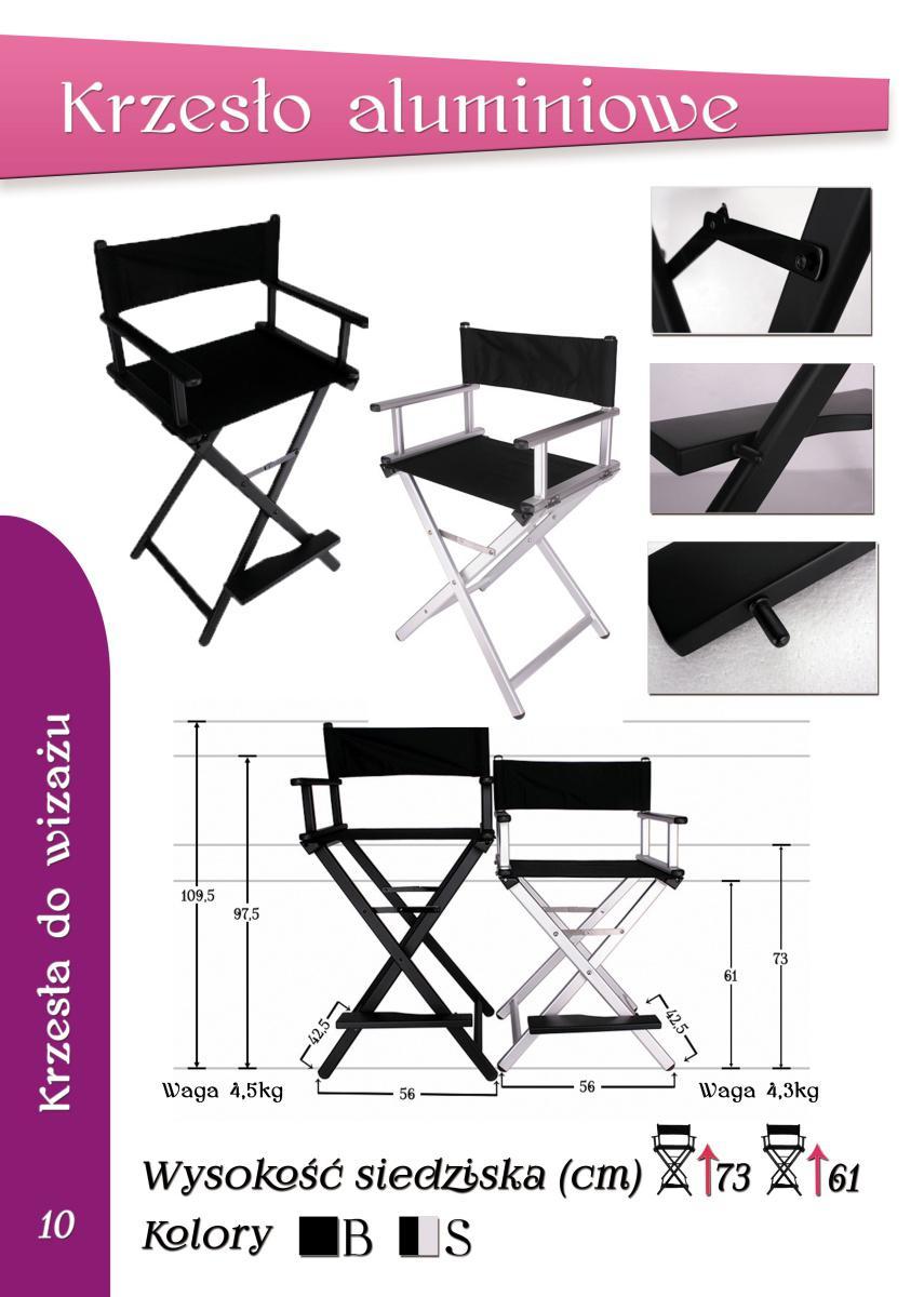 Profesjonalne krzesło wizażysty Cambella krzesło do makijażu